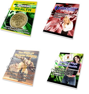 Product picture *BIGGEST SALE* 4 Private Label Rights Reseller eBooks